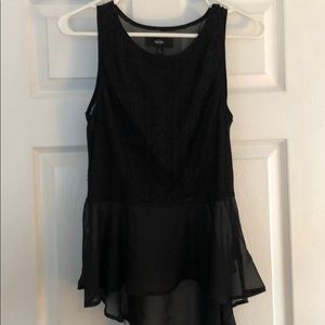 Nice sleeveless black top sheer blouse small